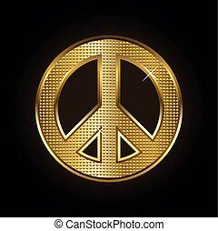 pace, oro, simbolo