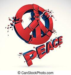 pace, pezzi, protesta, dimostrazione, pace, 60s, antiwar,...