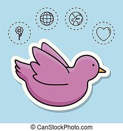 pace, relativo, icone