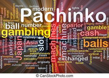Pachinko gambling background concept glowing
