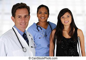 paciente de enfermera, doctor