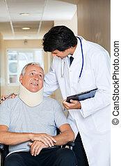paciente, doutor amigável