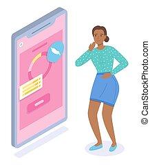paciente, gastritis, médico, el consultar, úlcera, tener, mujer, dolor, doctor, app, estómago, en línea