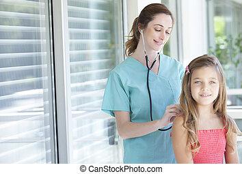 paciente, pediatra, dela