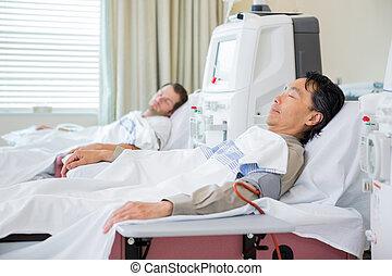 pacientes, receiving, renal, diálisis