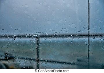 pacific, abstract, noordwesten, regen
