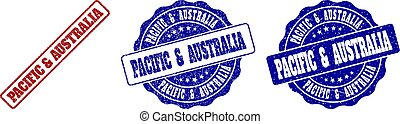 PACIFIC & AUSTRALIA Scratched Stamp Seals