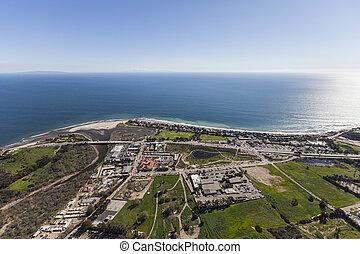 Pacific Coast Aerial Malibu California