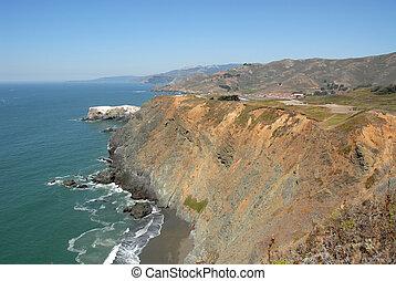 Pacific coast cliffs