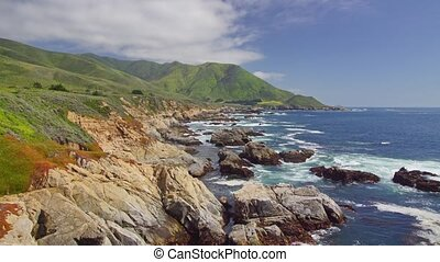 Pacific Coast Highway, #5 - Panoramic time-lapse with bridge...