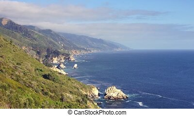 Pacific Coast Highway, #7 - Panoramic time-lapse with bridge...
