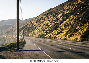 Pacific Coast Highway, in Malibu, California.
