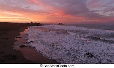 Pacific Coast Light Station San Simeon California Lighthouse...