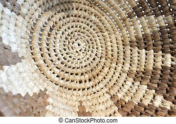 Pacific Islands clouse up of a woven wicker background in ...