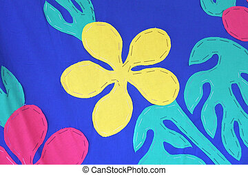 Pacific Islands Tivaevae background and texture - Cook ...