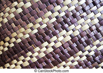 Pacific Islands woven basket clouseup background. Abstract, ...