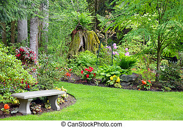 Pacific northwest garden - Lush pacific northwest botanical...