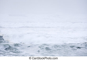 Abstract photo of the surf of the Pacific Ocean.