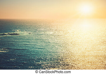 Pacific ocean at sunset
