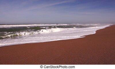 Pacific ocean in California - Panoramic view of Pacific...