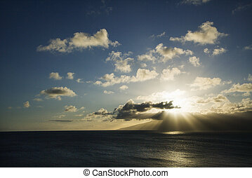 Pacific ocean island.