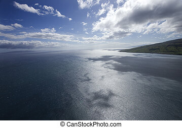 Pacific ocean. - Pacific ocean and sky with clouds and ...
