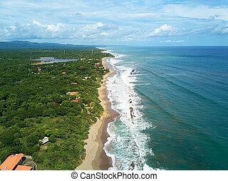 Pacific ocean shoreline