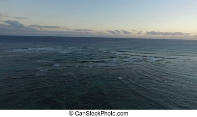Pacific Ocean Sunset 180 Pan Diamond Head Lighthouse Oahu...