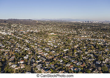 Pacific Palisades and West Los Angeles Aerial