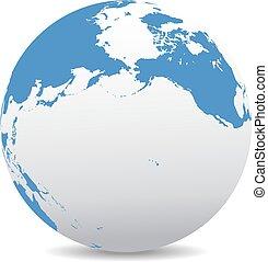 Pacific Rim North America, Canada, Siberia Russia and Hawaii...