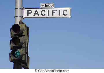 Pacific Road Sign