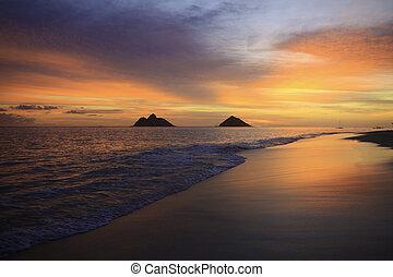 pacific sunrise in hawaii