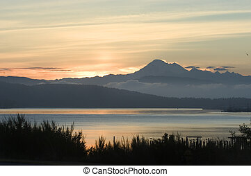 Pacific sunrise - Sunrise in Puget Sound