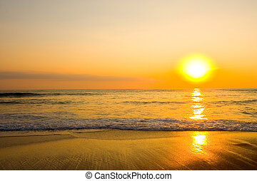 Pacific Sunset - A sunset over the Pacific ocean.
