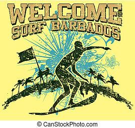 pacific surfer vector graphic design - pacific surfer ...