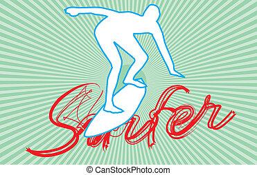pacific surfer vector graphic design