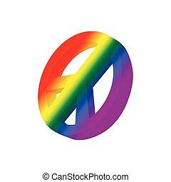 Pacific symbol in rainbow colors cartoon icon