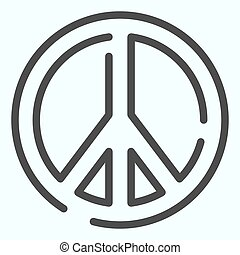 Pacifism line icon. Peace symbol vector illustration isolated on white. Sign pacifist outline style design, designed for web and app. Eps 10.