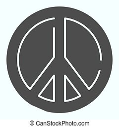 Pacifism solid icon. Peace symbol vector illustration isolated on white. Sign pacifist glyph style design, designed for web and app. Eps 10.