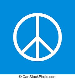 Pacifist sign. International symbol peace. Design element
