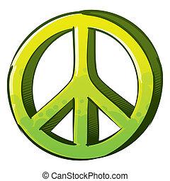 pacifista, segno