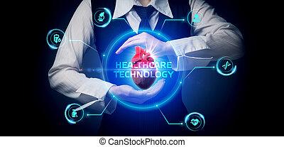 pacjenci, medyczny, healthcare, inteligencja, analiza, sztuczny, pomoc, nowoczesny, o, zdrowie, diagnosis., dane, technologia