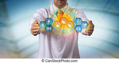 pacjent, integrating, aj, dane, klinicysta, mądry