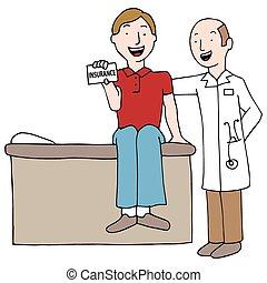 pacjent, ubezpieczeniowa karta, dzierżawa