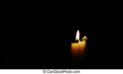 Pack of Candles, Flickering, Blowing Out
