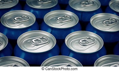 Pack Of Cans Closeup