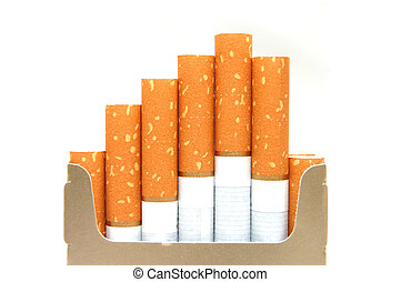 pack of cigarettes, close-up
