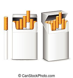 Pack of cigarettes isolated on white vector