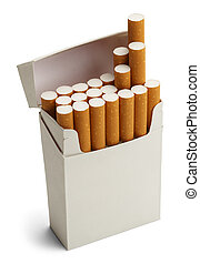 Cigarettes - Pack of Cigarettes With Copy Space Isolated on...