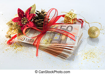 pack of euro for the Christmas gift